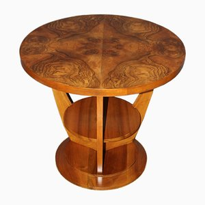Art Deco Walnut Guéridon Side Table, 1930s