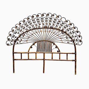 Cane Headboard from Pons Leyva, 1960s