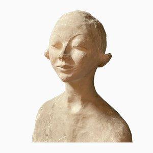 Italian Plaster Bust from Ida Fuà, 1940s
