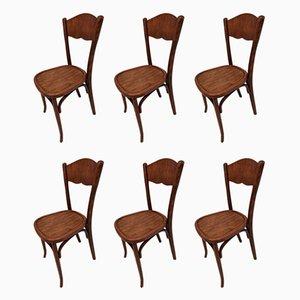 Antique Dining Chairs by Baumann for Baumann, 1910s, Set of 6
