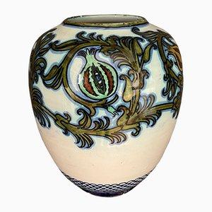 Jarrón de cerámica esmaltada de Pietro Melandri y Paolo Zoli para La Faiance, 1900