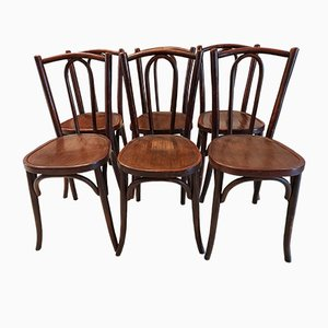 Bistro Chairs from Baumann, 1920s, Set of 6