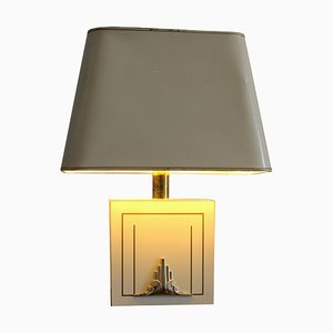 Hollywood Regency Lacquered Wood & Brass Grez Table Lamp from Disderot, 1970s