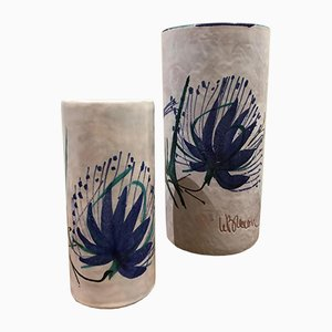 Vases by Le Brescon for Vallauris, 1950s, Set of 2