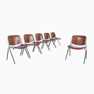 Italienische Industrielle Stühle, 1970er, 6er Set