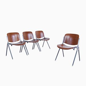 Desk Chairs, 1970s, Set of 4