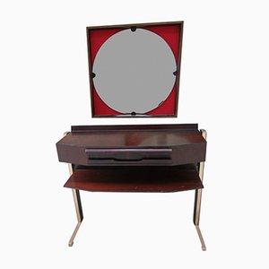 Consolle Mid-Century moderna in palissandro con specchio, set di 2