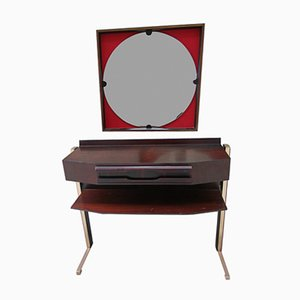 Mid-Century Modern Rosewood Console Table & Mirror, Set of 2