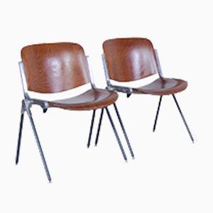 Sedie industriali, anni '70, set di 2
