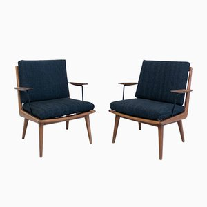 German Lounge Chairs by Albrecht Lange for Eugen Schmidt Soloform, 1950s, Set of 2