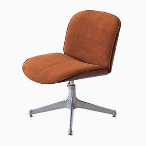 Chaise de Bureau Pivotante en Palissandre et Cuir par Ico Luisa Parisi pour MIM, 1950s