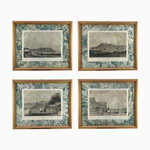 André Durand, Elba Island Views, 1862, Lithographien, 4er Set