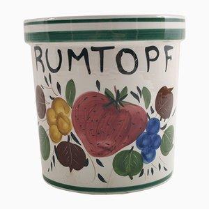 Rumtopf Ceramic Vase, Germany, 1930s