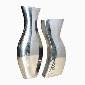 Italian Modernist Flower Vases from Hager, 1950s, Set of 2