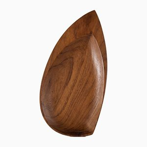 Leaf Shaped Teak Tray from Skjode, 1960s