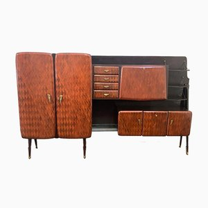 Rosewood Sideboard on Metal Base from F.lli Pozzi Lissone, 1950s