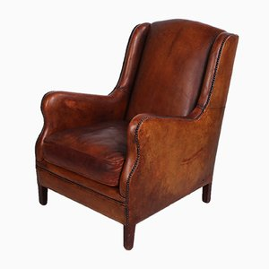Sheep Leather Club Armchair, 1970s