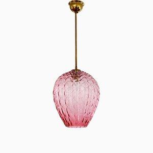 Pink Murano Glass Pendant Lamp, 1960s