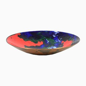 Mid-Century Enamelled Copper Bowl from Krupp Berndorf