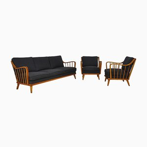 Mid-Century Antimott Sessel und Sofa Set von Walter Knoll / Wilhelm Knoll, 1950er, 3er Set