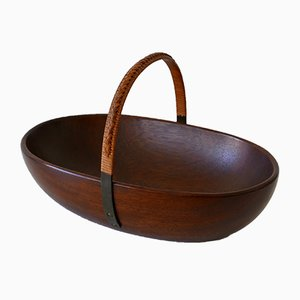Teak Nut Bowl by Carl Auböck for Werkstätte Carl Auböck, 1950s