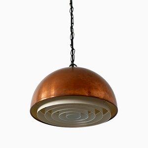 Lampe à Suspension Mid-Century Moderne en Cuivre Louisiana par Vilhelm Wohlert pour Louis Poulsen, Danemark, 1960s
