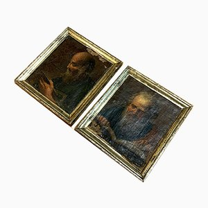 French School of the Eighteenth 2 Oil Paintings, Set of 2