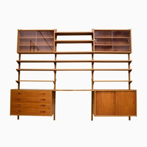 Mid-Century Danish Teak PS System Modular Wall Unit by Paul Sorensen, 1960s, Set of 16