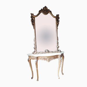 Console Table & Mirror, Set of 2