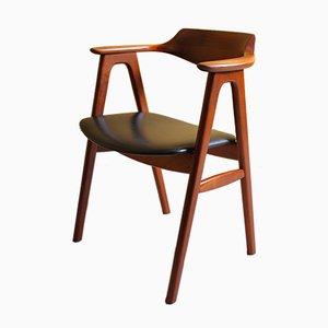 Teak Desk Chair by Erik Kirkegaard, 1950s