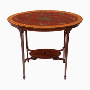 Antique Satinwood and Mahogany Side Table