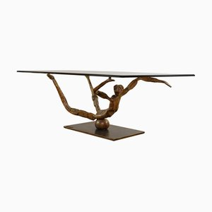 Vintage Brutalist Style Coffee Table from Salvino Marsura