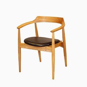 Dänischer Armlehnstuhl aus Ulmenholz von Illum Wikkelsø für Eilersen, 1970er