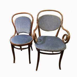 Antique Chairs by Michael Thonet and J&J Kohn, Set of 2