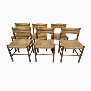 Dining Chairs by Charlotte Perriand & Dordogne for Sentou, 1950s, Set of 6
