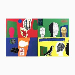 Mimmo Paladino, Stupor Mundi, 2011, Siebdruck & Collage auf Papier