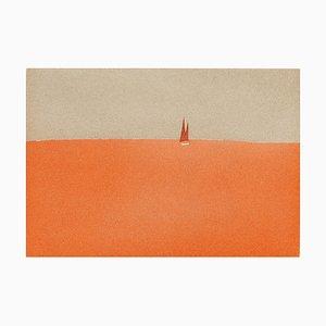 Alex Katz, Red Sails, 2008, Color Aquatint