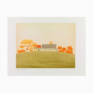 Alex Katz, House and Barn, 1954/2008, Color Aquatint