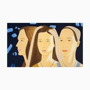 Alex Katz, Trio, 2017, Screen Print in 32 Colors