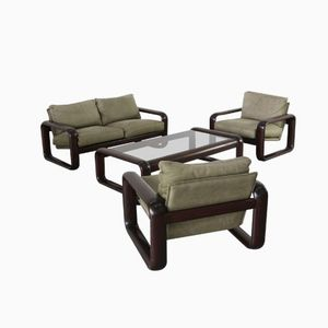 Hombre Leather Living Room Set by Burkhard Vogtherr for Rosenthal