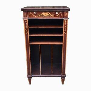 Antique Mahogany Inlaid Music Cabinet
