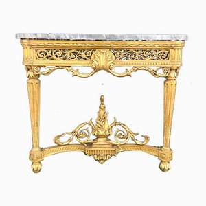 19th Century French Carved Gilt Wood Console Table