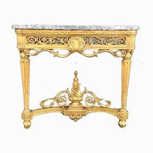 Consolle in legno dorato intagliato, Francia, XIX secolo