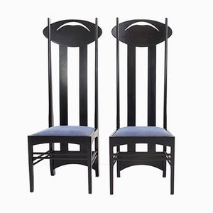 Model I Chairs by Charles Rennie Mackintosh for Cassina, 1973, Set of 2
