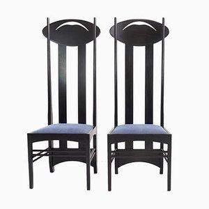 Modell I Stühle von Charles Rennie Mackintosh für Cassina, 1973, 2er Set