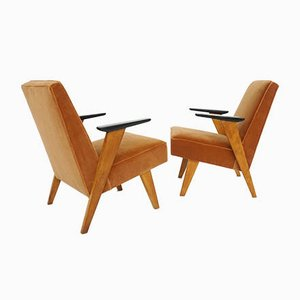 Swiss Armchairs Attributed to Hans J. Bellmann, 1950s, Set of 2