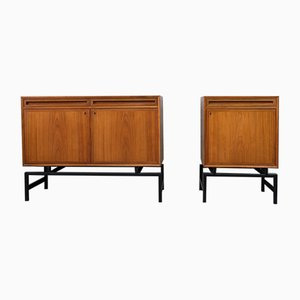 Mid-Century Scandinavian Modern Teak Cabinets, 1960s, Set of 2