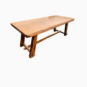 Massiver Tisch aus Ulmenholz, 1960er