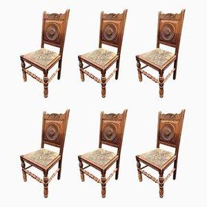 Esszimmerstühle, 1940er, 6er Set