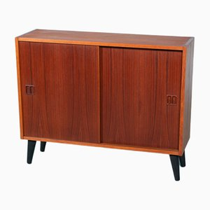 Danish Teak Cupboard with Sliding Doors from Sejling Skabe, 1960s